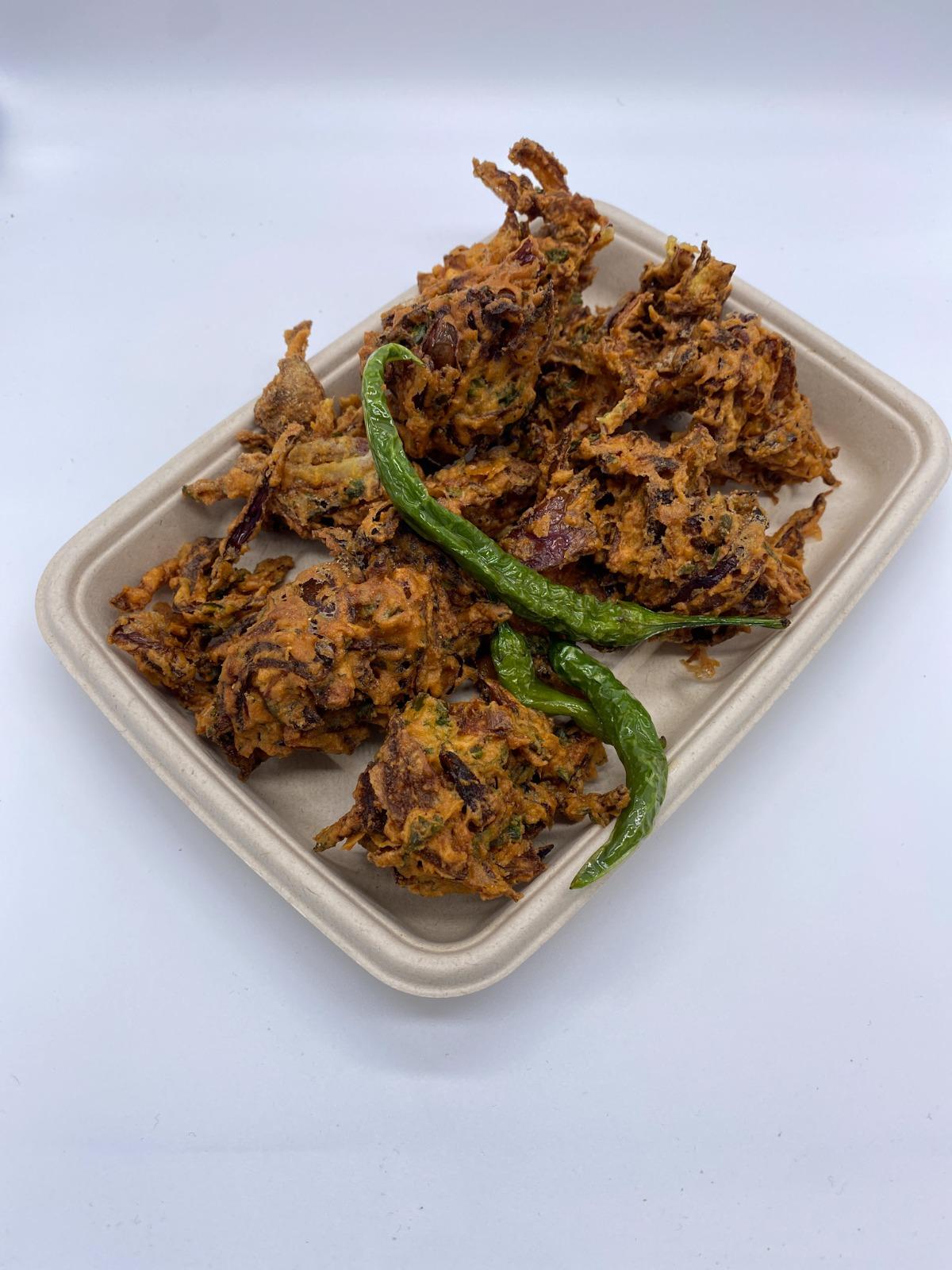 Onion Bhajiya Plate