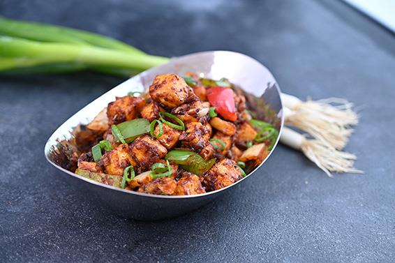 Schezwan chilli paneer