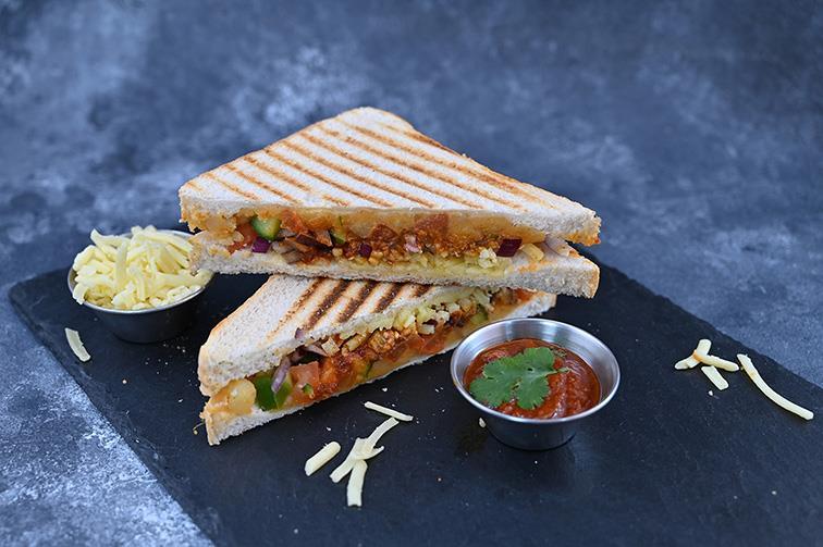 Schezwan Cheese Grill Sandwich