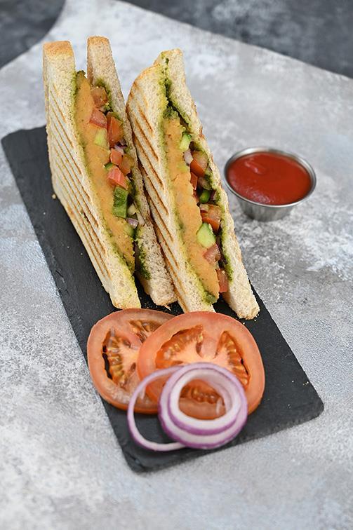 Samosa Cheese Sandwich